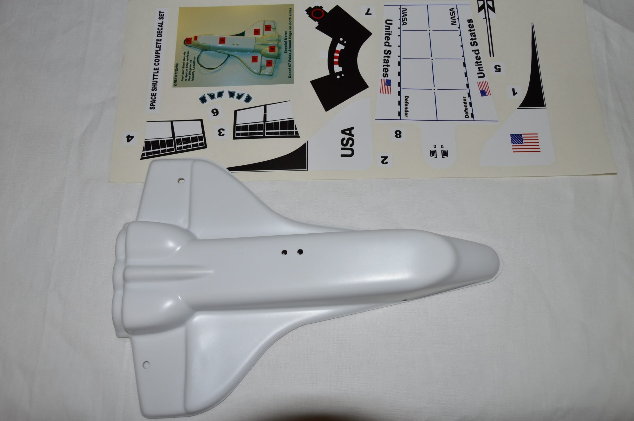 Space Shuttle Model with Decals 03-7924