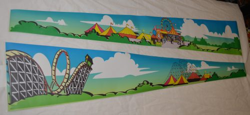 Roller Coaster Tycoon, Hurricane, Comet, Cyclone Sideboard Decal Set
