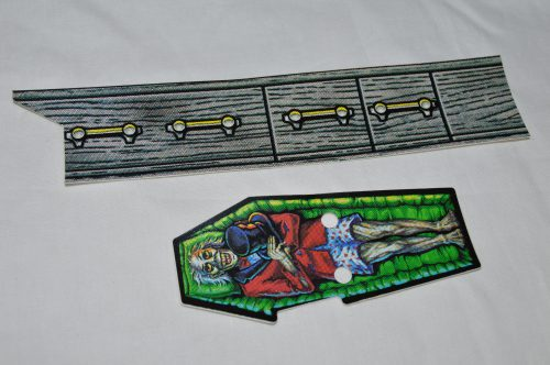 Scared Stiff NOS Coffin Decal Set 31-2589-1 & 31-2589-2