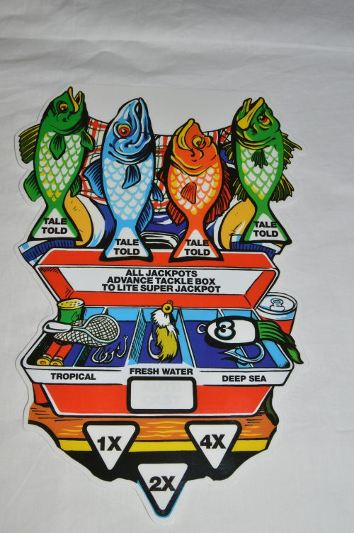 Fish Tales Overlay Reverse Screen Printed
