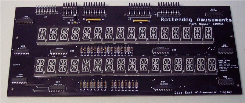 Data East Dual 16 Digit Alphanumeric Displays DIS244