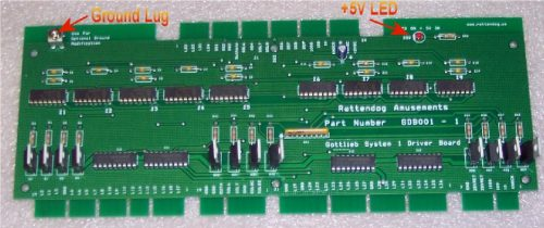 Gottlieb System 1 Driver Board GDB001