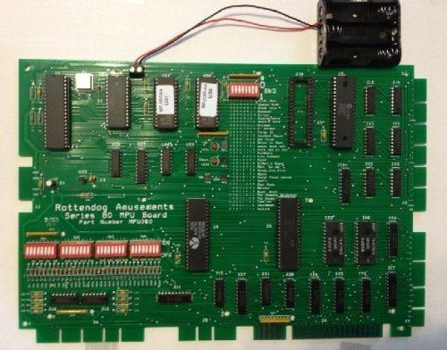 Gottlieb System 80/80A MPU Board MPU080