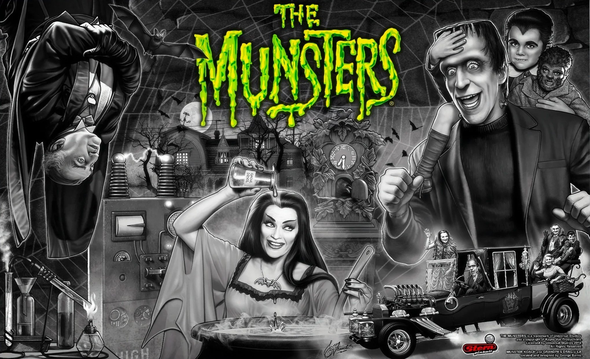 The Munsters Premium Translite for Stern Pinball Machine 830-8427-L3